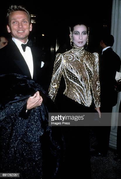 Cher and fashion designer Bob Mackie circa 1985 in New York City