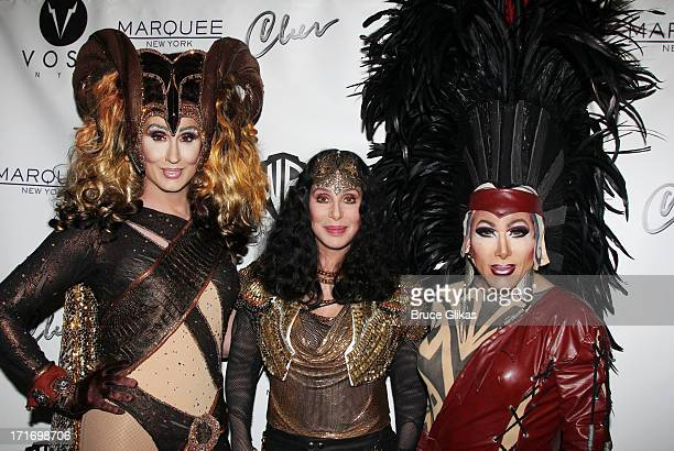 Cher and friends kick off 2013 Gay Pride NYC at 'Q Thursdays' at Marquee on June 27 2013 in New York City