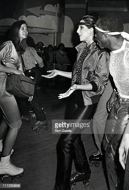 Cher and guests during Casablanca Records Party February 26 1979 at Empire Roller Disco Skating Rink in New York City New York United States