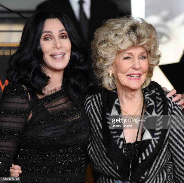 Cher and her mother Georgia Holt attend Cher's hand and footprint ceremony at Grauman's Chinese Theatre on November 18 2010 in Hollywood California