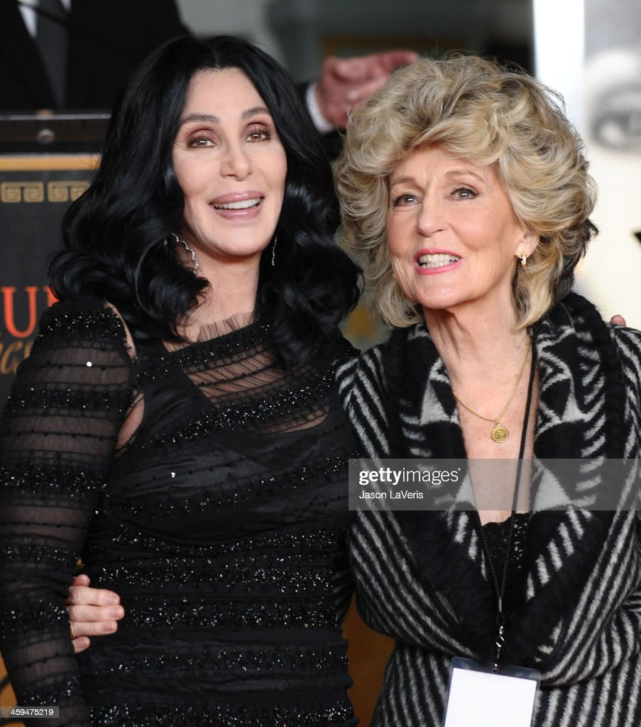 Cher and her mother Georgia Holt attend Cher's hand and footprint ceremony at Grauman's Chinese Theatre on November 18, 2010 in Hollywood, California.