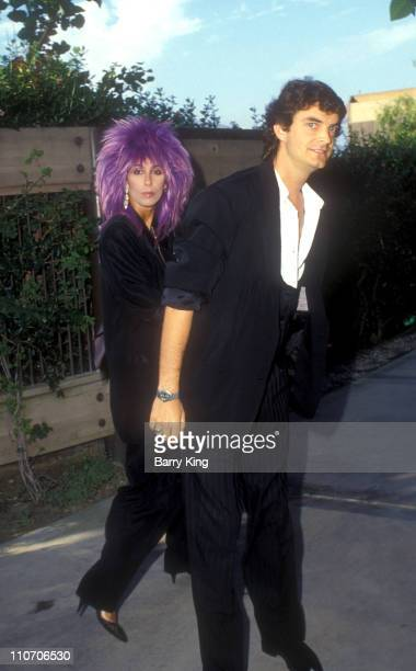 Cher and Josh Donen during Madonna and Sean Penn Wedding August 16 1985 Arrivals at Private Residence in Malibu California United States