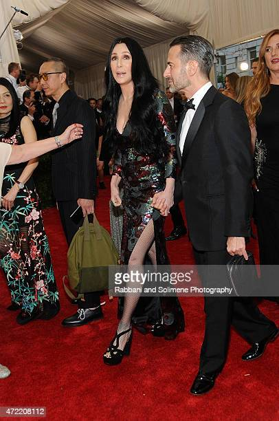 Cher and Marc Jacobs arrives at China Through The Looking Glass Costume Institute Benefit Gala at the Metropolitan Museum of Art on May 4 2015 in New...