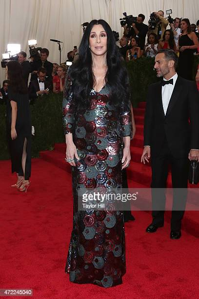 Cher and Marc Jacobs attend 'China Through the Looking Glass' the 2015 Costume Institute Gala at Metropolitan Museum of Art on May 4 2015 in New York...