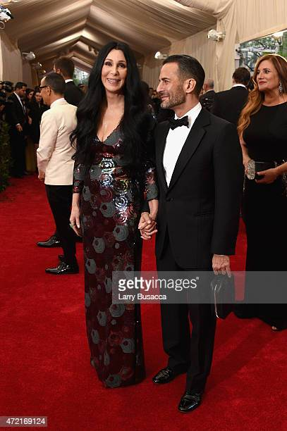 Cher and Marc Jacobs attend the China Through The Looking Glass Costume Institute Benefit Gala at the Metropolitan Museum of Art on May 4 2015 in New...