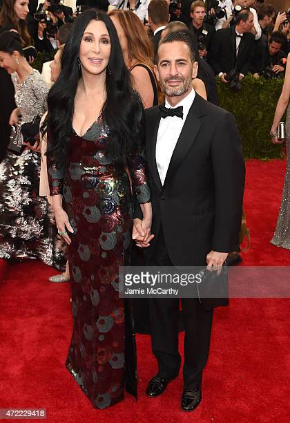 "Cher and Marc Jacobs attend the ""China: Through The Looking Glass"" Costume Institute Benefit Gala at the Metropolitan Museum of Art on May 4, 2015 in..."