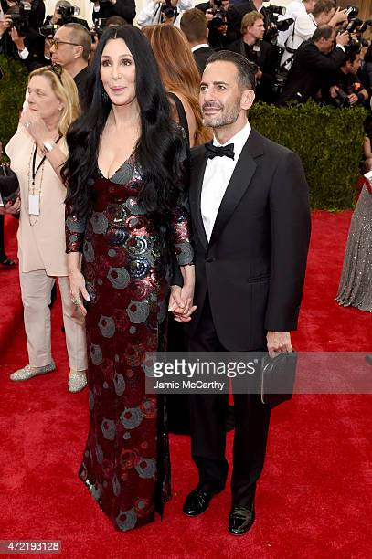 Cher and Mark Jacobs attend the China Through The Looking Glass Costume Institute Benefit Gala at the Metropolitan Museum of Art on May 4 2015 in New...