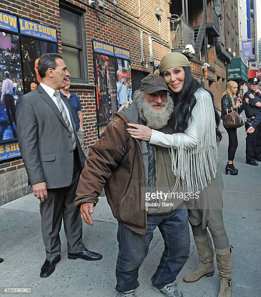 Cher and Radioman outside the 'Late Show with David Letterman' show on May 6 2015 in New York City