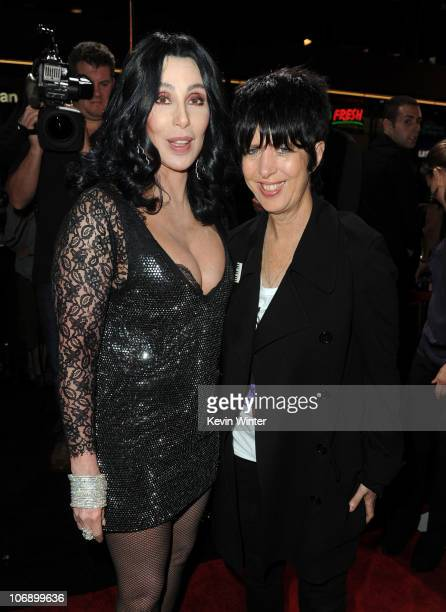 Cher and songwriter Diane Warren arrive at the premiere of Screen Gems' Burlesque at Grauman�s Chinese Theater on November 15 2010 in Los Angeles...