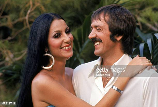 Cher and Sonny Bono pose for a promotional photo for The Sonny and Cher Show in 1970
