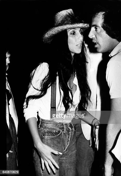 Cher and Steve Rubell at Studio 54 circa 1977 in New York City