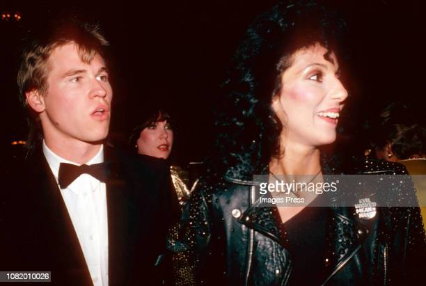 """Cher and Val Kilmer attends the """"Grease II"""" Premiere Party at The Red Parrot on June 9, 1982 in New York City."""
