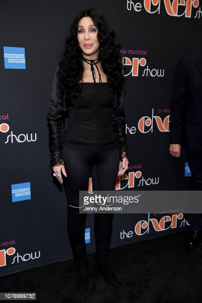 """Cher arrives at """"The Cher Show"""" Broadway Opening Night at Neil Simon Theatre on December 03, 2018 in New York City."""
