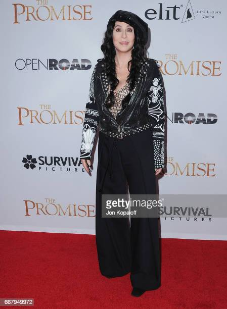 Cher arrives at the Los Angeles Premiere 'The Promise' at TCL Chinese Theatre on April 12 2017 in Hollywood California