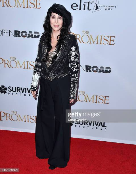 Cher arrives at the Premiere Of Open Road Films' 'The Promise' at TCL Chinese Theatre on April 12 2017 in Hollywood California