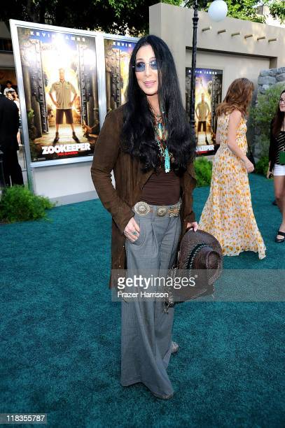 Cher arrives at the Premiere of 'The Zookeeper' at the Regency Village Theater Westwood on July 6 2011 in Los Angeles California