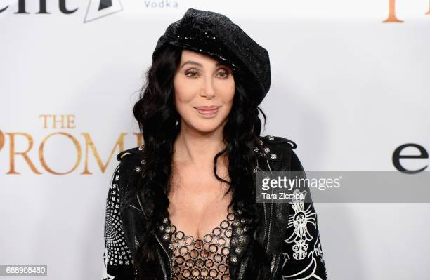Cher arrives to the Los Angeles premiere of 'The Promise' at TCL Chinese Theatre on April 12 2017 in Hollywood California