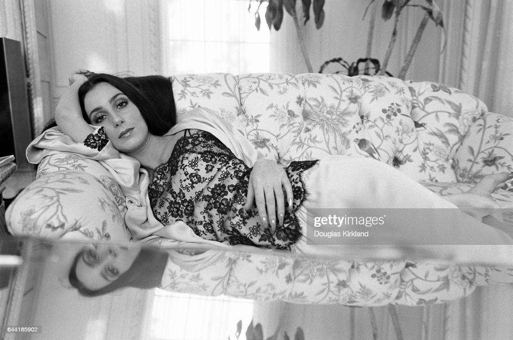 Cher at Home on Her Couch