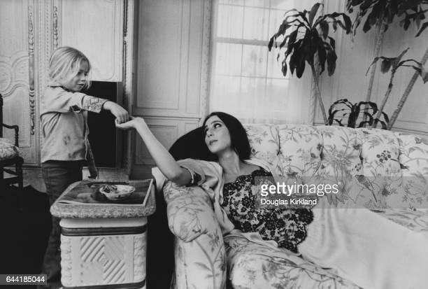 Cher at Home with Daughter Chastity
