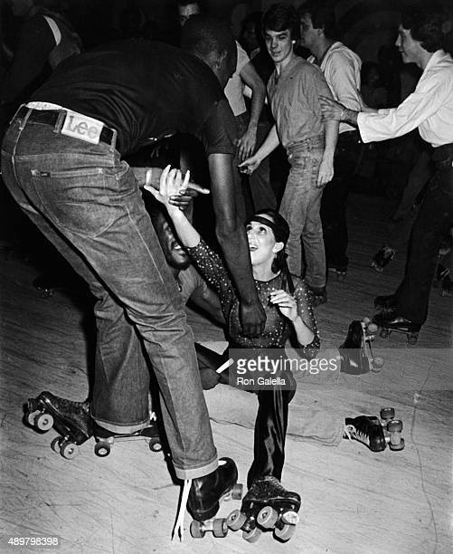 Cher attends Casablanca Records Party on February 26 1979 at Empire Roller Disco in New York City
