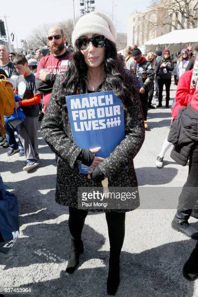 Cher attends March For Our Lives on March 24, 2018 in Washington, DC.