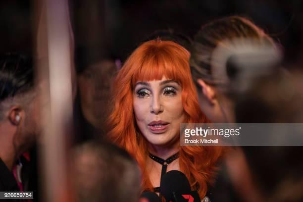 Cher attends the 2018 Sydney Gay Lesbian Mardi Gras Parade on March 3 2018 in Sydney Australia The Sydney Mardi Gras parade began in 1978 as a march...