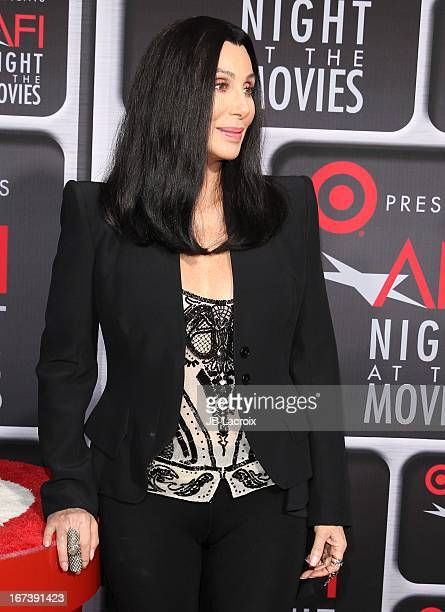 Cher attends the AFI Night At The Movies presented by Target held at ArcLight Hollywood on April 24 2013 in Hollywood California