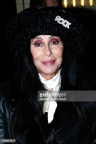 Cher attends the Balmain Fall/Winter 2013 ReadytoWear show as part of Paris Fashion Week on February 28 2013 in Paris France