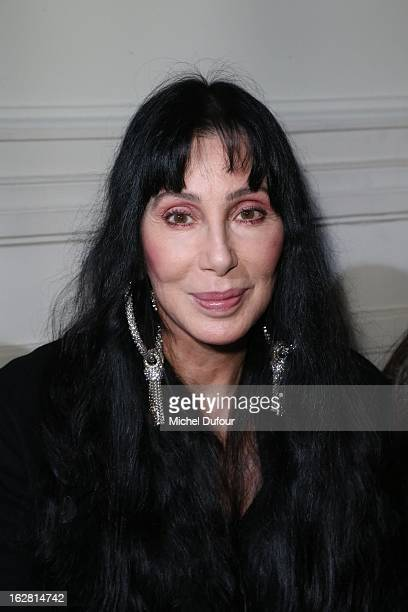 Cher attends the Gareth Pugh Fall/Winter 2013 ReadytoWear show as part of Paris Fashion Week on February 27 2013 in Paris France