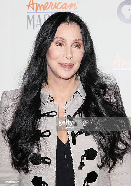 Cher attends the 'Inventing David Geffen' Los Angeles Premiere held at Writer's Guild Theater on November 13 2012 in Los Angeles California