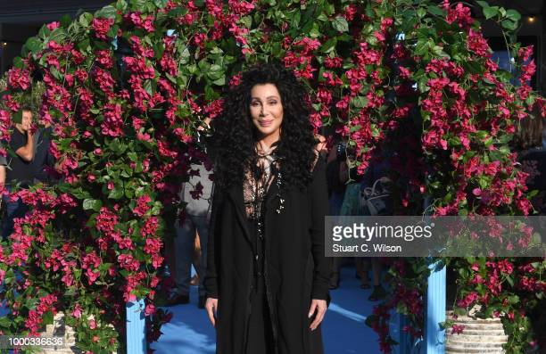 Cher attends the Mamma Mia Here We Go Again world premiere at the Eventim Apollo Hammersmith on July 16 2018 in London England