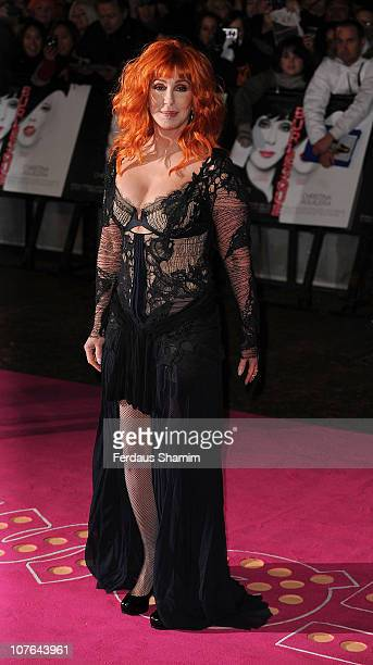 Cher attends the UK premiere of 'Burlesque' at Empire Leicester Square on December 13 2010 in London England