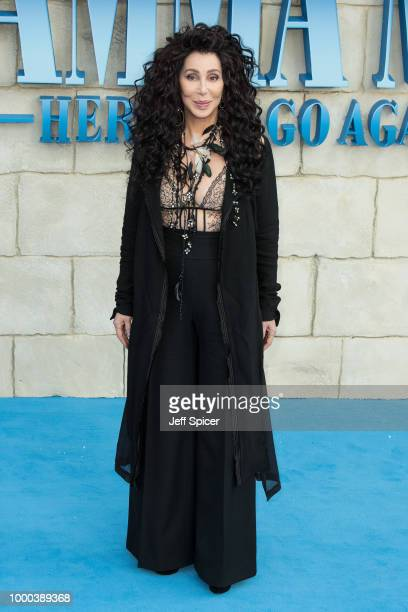 Cher attends the UK Premiere of Mamma Mia Here We Go Again at Eventim Apollo on July 16 2018 in London England
