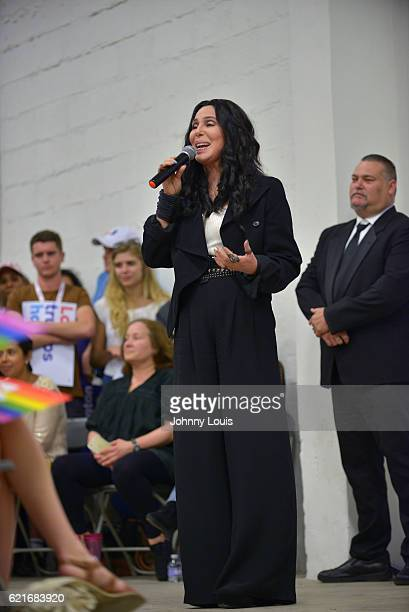 Cher campaigns for Hillary Clinton on November 7 2016 in Miami Florida