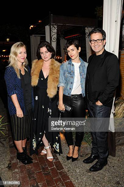 Cher Coulter Ilaria Urbinati Karla Welch and Joseph Cassell attend an intimate dinner hosted by Elle magazine and J Brand at Petit Ermitage Hotel on...