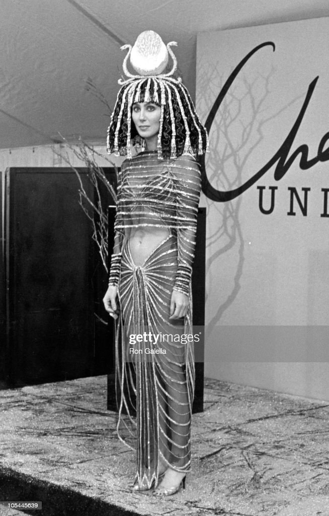 Cher during Bob Mackie's 1988 Halloween Party at Century Paramount in Century City, California, United States.
