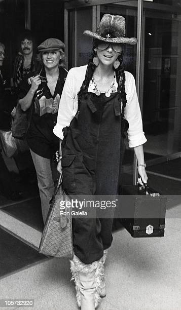 Cher during Cher and Gregg Allman Sighting at JFK Airport November 5 1977 at JFK Airport in New York City New York United States