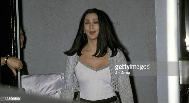 Cher during Cher Outside the CNN Studios April 16 1999 at CNN Studios in Hollywood California United States