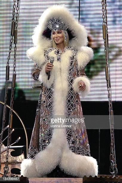 Cher during Cher Performs the 147th Concert in Her Farewell Tour at Boardwalk Hall in Atlantic City, New Jersey, United States.