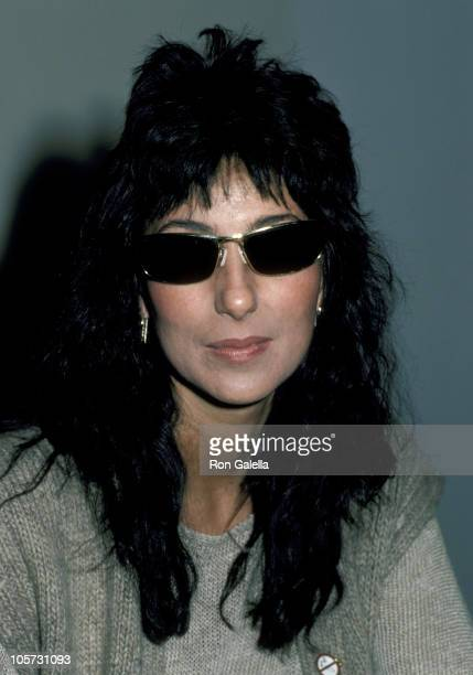 Cher during Cher Speaks at UCLA January 19 1983 at University of California Los Angeles in Los Angeles California United States