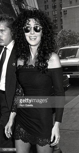 """Cher during Press Conference for Cher's Fragrance """"Uninhibited"""" - August 10, 1988 at The Plaza Hotel in New York City, New York, United States."""