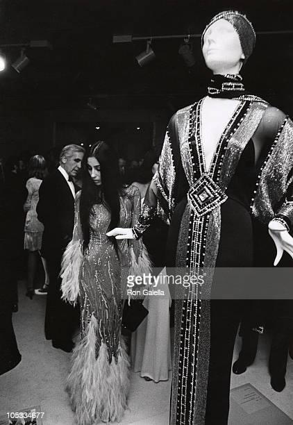 Cher during Romantic and Glamorous Hollywood Design Exhibition at Metropolitan Museum of Art in New York City New York United States