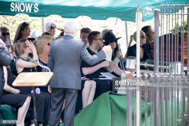 Cher family and friends attend Gregg Allman's Funeral on June 3 2017 in Macon Georgia Allman died May 27th due to complications from liver cancer at...