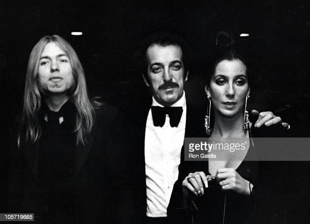Cher Hoe De Carlo and Gregg Allman during Hoe De Carlo Birthday Party February 23 1976 at La Scala Restaurant in New York City New York United States