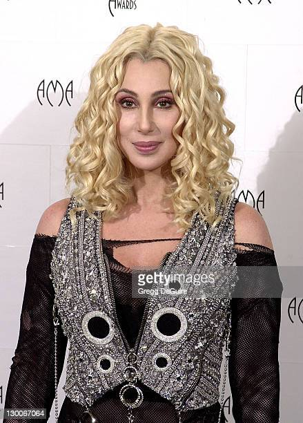 Cher in the press room at the 29th Annual American Music Awards