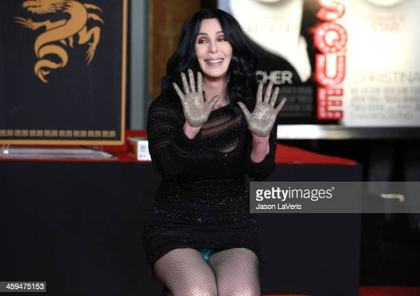 Cher is Honored With a hand and footprint ceremony at Grauman's Chinese Theatre on November 18 2010 in Hollywood California