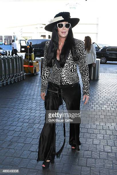 Cher is seen at LAX on August 23 2015 in Los Angeles California