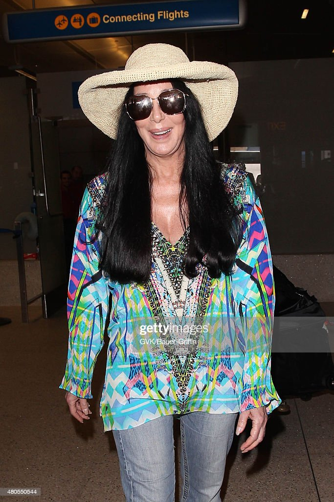 Cher is seen at LAX on July 12, 2015 in Los Angeles, California.