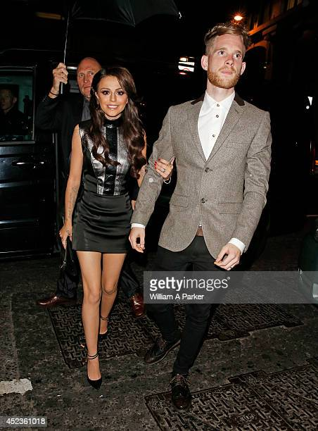 Cher Lloyd and Craig Monk seen arriving at Steam Rye on July 19 2014 in London England