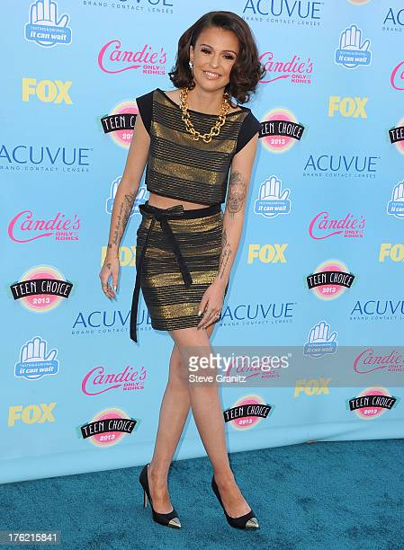 Cher Lloyd arrives at the 2013 Teen Choice Awards at Gibson Amphitheatre on August 11, 2013 in Universal City, California.